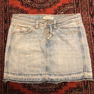 Vintage Hilfiger Tommy Jeans mini skirt distressed